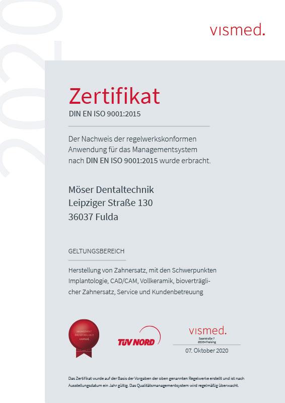 Zertifikat_MöserDentaltechnik2020_